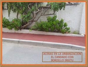 ACERA  CON BORDILLO INSITU